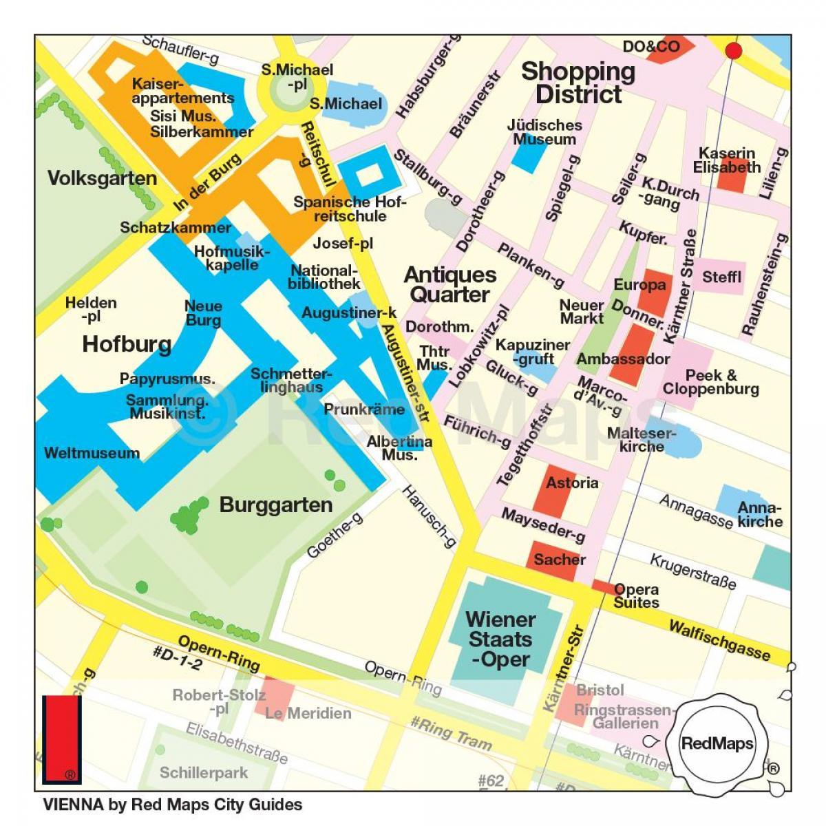 Wien Shopping Karta Karta Over Wien Shopping Osterrike
